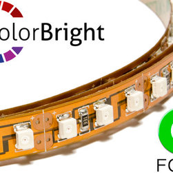Flexfire LEDs Products - ColorBright Vivid Green (Foot) - ColorBright™ Vivid Green LED lights - Accent lighting for restaurants, kitchens, TV backlight, countertops, bartops, and more! These high quality green LED flex strips can be attached almost anywhere. They are super bright and will last over 11 years at 12 hours a day.
