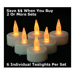 6 Tea Lights Everlasting Battery Operated - If you haven't tried battery-operated candles, do it now! I was once a candle snob, a purist, until I tried these. No burning your fingers when you light them, no wax dripping and no fire danger. Plus, they burn for days, so your party has candlelight all night long. Just pop them in some pretty votive holders.