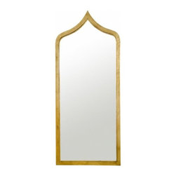 Worlds Away - Designer home decor | Worlds Away Adina Mirror in Gold - MORROCAN STYLE GOLD LEAF IRON MIRROR. MIRROR INSERT NON ANTIQUED.