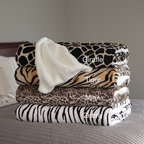 Windsor - Windsor Home Soft Animal Print Blanket with Sherpa Backing - The super soft and lightweight Windsor Home blanket will work nicely on a bed or couch to keep you warm. Available in a zebra,tiger,giraffe or mink pattern,this cozy blanket features a sherpa backing and is machine washable for easy care.