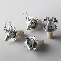 """Arte Italica - Arte Italica """"Animale"""" Bottle Stopper - Include one of these bottle stoppers with your hostess gift of wine, and really make an impression. (You'll want one for yourself, too!) Handcrafted. Made in Italy of pewter and cork. Hand wash. 2.5""""T. Available in your choice of animals; select s..."""
