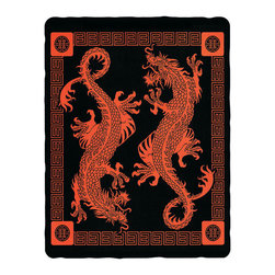 Zeckos - Asian Dragon Cotton Tapestry 100 Inch x 90 Inch Asia Power - This 100% cotton, 100 inch by 90 inch tapestry features a design of a pair of powerful Asian dragons. Made in India using traditional methods, the tapestry can be hung on the wall, but also makes a great bedspread, table cloth or window treatment. It makes a great gift for any fan of Asian art.