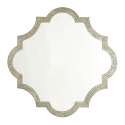 GOTHIC MIRROR - NEW - This decadent mirror manifests beauty. Eye-catching and elegant with its beveled texture, this mirror possesses an intriguing design reminiscent of art deco galuchat. Perfect to open up a space, large or small. Works best as a large wallscape in a bedroom or living room. Reflect your style and personality.