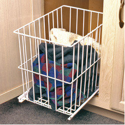 Cabinet Accessories - Hamper roll out with wire basket.