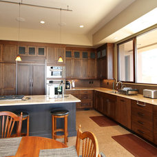 Eclectic Kitchen Cabinets by Venuti Woodworking