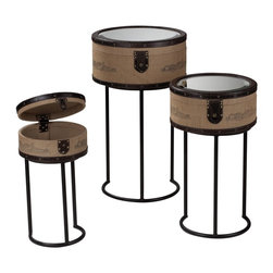 """Sterling Industries - Sterling Industries Set of 3 Chateau Des Bruges Stacking Boxes on Stands - Sterling Industries Set Of 3 """"Chateau Des Bruges"""" Stacking Boxes on stands (89-8000/S3)"""