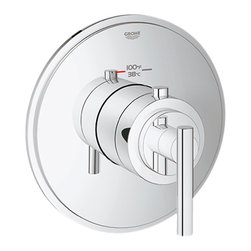 Grohe - Grohe 19865000 Timeless Custom Shower Thermostatic Trim w/Control Module, Chrome - Grohe 19865000 from the Atrio Faucet Collection is styled in the understated Bauhaus movement, with simple yet stylish design elements adding balance to your bathroom. The Grohe 19865000 is a Timeless Custom Shower Thermostatic Trim with Control Module With a dazzling and highly reflective Chrome finish.