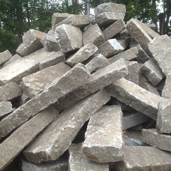 Olde New England Granite Reclaimed Products - We are currently reclaiming 1st generation slope curb from a major Massachusetts thoroughfare.