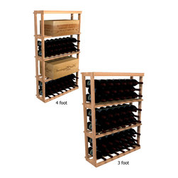 Wine Cellar Innovations - 1 Column Rectangular Bin; WineMaker: Rustic Pine Unstained - 4 Ft - The 1 Column Rectangular Bin and Case wooden wine rack can store wood cases, cardboard boxes, or loose wine bottles. Assembly Required.