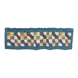 Patch Quilts - Patch Magic Bow Tie Curtain Valance 54 x 16-Inch - - Beautiful patchwork Valance.Window Treatments for ensemble and Bedding items from Patch Magic. Machine washable. Line or Flat dry only  - Finish/Color: Multiple Color  - Product Depth: 54  - Product Width: 54  - Product Height: 16  - Material: 100% Cotton Fabric Patch Quilts - CVBTIE