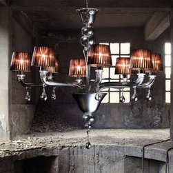 Vintage - Agata 8L 1-Tier Suspension Light -