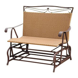 International Caravan - International Caravan Valencia Wicker Double Glider Patio Chair - International Caravan - Outdoor Gliders and Swings - 4102DBL - For over 44 years International Caravan has been one of the leaders in quality outdoor and indoor furniture. Using only the finest materials they bring skill craftsmanship and complete dedication to those who enjoy their furniture. You cannot go wrong with any of International Caravan's beautifully constructed pieces of furniture that are sure to be a focal point inside or outside of your home for years to come.