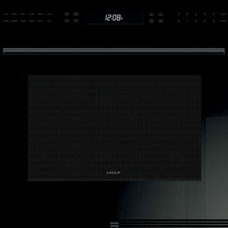 "Wolf 30"" E Series Contemporary Built-In Single Oven Black 