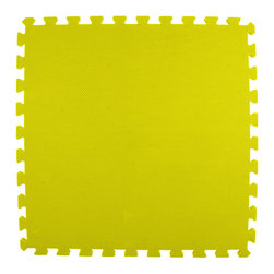 Greatmats - Greatmats Foam Floor Tile, 10 Pack, Yellow - This is a 10 pack of tiles. Free Shipping. Each tile is 2x2 ft in size and covers 4 SF, this 10 pack of foam tiles will cover 40 SF. 2 Border strips included per tile. Ships ground to your door.