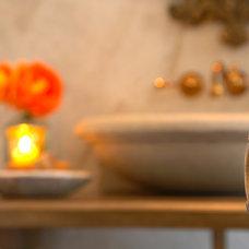 Mediterranean Bathroom by Carmel Stone Imports