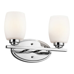 Kichler Lighting - Kichler Lighting 5097CH Eileen Chrome 2 Light Vanity - 2, 100W Medium