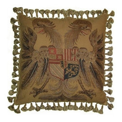 "EuroLux Home - New Embroidered Throw Pillow 21""x21"" Eagle - Product Details"