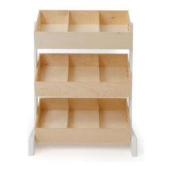 Oeuf - Oeuf Classic Toy Store - in Natural - Features removable dividers for large items. Assembly required.