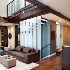 Contemporary Family Room by SoYoung Mack Design, Assoc. AIA