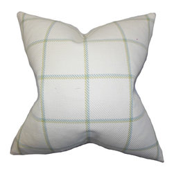 "The Pillow Collection - Wilmie Plaid Pillow Green - Fresh and contemporary, this toss pillow is a great addition to your decor collection. This accent piece features a classic plaid pattern in a green hue and printed on a white background. Made of 100% cotton fabric, this 18"" pillow provides a contemporary look to your living room or bedroom. Hidden zipper closure for easy cover removal.  Knife edge finish on all four sides.  Reversible pillow with the same fabric on the back side.  Spot cleaning suggested."