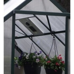 Exaco Solar Exhaust Vent for the Roof - In the case of the greenhouse effect, there certainly can be too much of a good thing. The Exaco Solar Exhaust Vent for the Roof prevents plants from baking as temperatures rise. This vent measures 12 inches square and can fit into a 12 inch square opening in any type of greenhouse wall panel. This kit includes two cross bars for installation into any greenhouse with frame bars that are less than 28 inches apart when measured from the center of one bar to the center of the next.About Exaco USAExaco USA Ltd. is a family-owned company based in Austin, Texas, that introduced the Exomixer paint mixing blade to the U.S. market in the late 1980s. The company has been a vendor to major home center chains and national distributors for 17 years, providing a variety of innovative products for your yard and outdoor living.