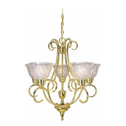 Volume Lighting - Volume Lighting V3995 Versailles 5 Light 1 Tier Chandelier - Five Light 1 Tier Chandelier from the Versailles CollectionStriking and spectacular, this 5 light chandelier features 1 tier and dazzling lead crystal.Features: