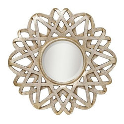 Kichler Rebound Silver Leaf Finish Wall Mirror - I am obsessed with the lines of this mirror: strips of metal intertwine to create a spectacular piece! Plus, its champagne hue is more subtle, letting the shape shine.