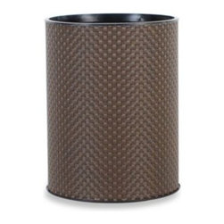 Lamont Home - Lamont Home Basketweave Waste Basket - Unlike its plain, average counterparts, this contemporary-styled, neutral-colored waste basket adds to and polishes bathroom and bedroom decor.