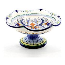 Artistica - Hand Made in Italy - Vecchia Deruta: Scalloped Footed Fruit Bowl^ - Vecchia Deruta Collection
