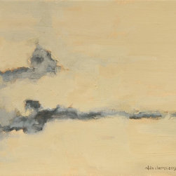"""""""Clouds Series No. 8"""" Artwork - This is a nature oil painting of clouds.  It is small and it is mounted on light duty wooden stretcher bars."""