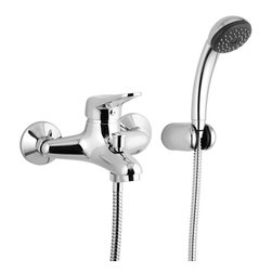 Remer - Wall Mounted Tub Filler Set With Hand Shower - This single lever bathtub mixer comes complete with hand shower and bracket.
