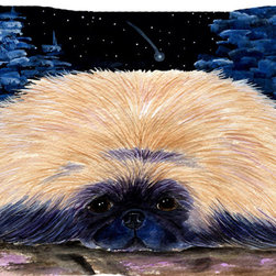 Caroline's Treasures - Starry Night Pekingese Fabric Standard Pillowcase Moisture Wicking Material - Standard White on back with artwork on the front of the pillowcase, 20.5 in w x 30 in. Nice jersy knit Moisture wicking material that wicks the moisture away from the head like a sports fabric (similar to Nike or Under Armour), breathable performance fabric makes for a nice sleeping experience and shows quality. Wash cold and dry medium. Fabric even gets softer as you wash it. No ironing required.