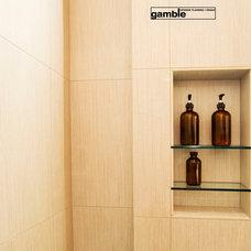 Contemporary Bathroom by gamble + design
