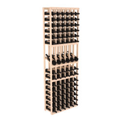 Wine Racks America - 6 Column Display Row Wine Cellar Kit in Pine, Satin Finish - Make your best vintage the focal point of your wine cellar. These decorative wine racks allow presentation of favored and coveted labels. This solid build wine rack is constructed from superior pine and redwood materials. Features our industry exclusive solid display trays with a high reveal.