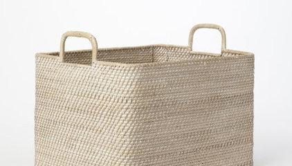 Modern Weave Oversized Storage Bin   west elm