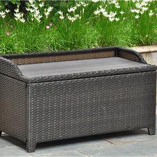 International Caravan Resin Wicker Storage Bench | Overstock.com