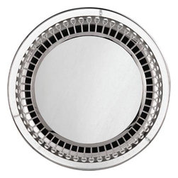 Robert Abbey - Robert Abbey S712 Jonathan Adler Mayfair 1 Light Backlit Round Mirror in Polishe - Jonathan Adler Mayfair 1 Light Backlit Round Mirror in Polished Nickel Finish.Bulb Type: Incandescent Bulbs Included: Yes Collection: Jonathan Adler Mayfair Diameter: 28 Finish: Polished Nickel Numner of Lights: 1 Origin: China Shade: 20 Switch Type: Direct Wire Wattage: 32W Max