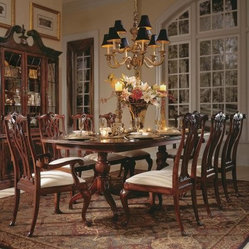 American Drew Cherry Grove 45th Pedestal Dining Table