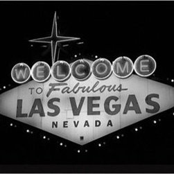 """Las Vegas"" by Michael Joseph - You either love Las Vegas or you hate it, but is it possible not to love this fabulous sign? While I am always advocating finding artists you love and supporting them at galleries and fairs, there's nothing wrong with buying something that's sold in bulk and pre-framed every now and then."