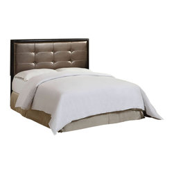"Acme - Lalla Collection Espresso / Brown Leather-Like Queen / Full - Lalla collection espresso / brown leather like traditional style queen / full headboard with button tufted design. This set includes the queen headboard with button tufted design. Some assembly required. Measures 50""H."