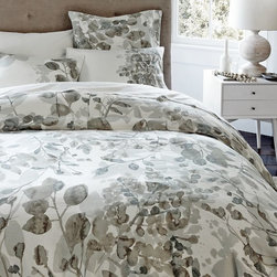 Organic Woodland Duvet Cover - The neutral grays tone down the pattern on this organic cotton duvet cover.