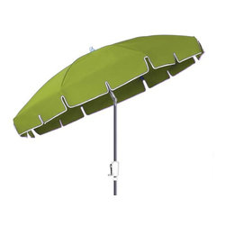 Fifthroom - 7.5' Octagon Sunbrella Umbrella w/Aluminum Pole, Crank Lift, and Manual Tilt - Make your outdoor area more inviting with our 7.5� Octagon Sunbrella Umbrella. Stylish and durable, it is perfect for entertaining your patrons or guests by the pool or on the patio. Engineered of genuine Sunbrella material, this umbrella is durable and incredibly easy to maintain. It provides the ultimate in stain and mildew resistance, and is easy to clean and maintain. Available in 19 fun and flirty colors such as Castanet Beach and Mason Sapphire Blue, this umbrella will not only provide protection from the elements, but also a touch of class to any outdoor area.