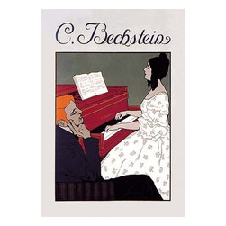 """Buyenlarge.com, Inc. - C. Bechstein - Music Lesson- Paper Poster 20"""" x 30"""" - Another high quality vintage art reproduction by Buyenlarge. One of many rare and wonderful images brought forward in time. I hope they bring you pleasure each and every time you look at them."""