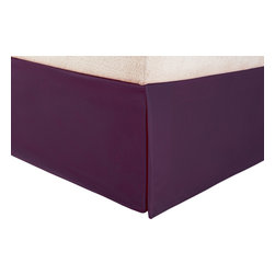 Microfiber 1500 Solid Twin Bed Skirt, Plum - Explore the amazing feel of our Vanessa Collection microfiber bed skirts. Made with 100% microfiber and designed to resist wrinkles and pilling, they will stay like new through many machine wash cycles. Strong and durable, yet luxuriously soft, these bed skirts offer all the advantages of standard cotton sheets at less cost to you! Dimensions: 38X75.