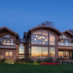 Aluminum Clad Windows and Doors - Luxury Lake Michigan home aluminum clad windows and doors throughout.   Photo credit Lucid Architects.