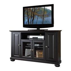"Crosley Furniture - Crosley Furniture Alexandria 48"" Corner TV Stand in Black Finish - Crosley ..."