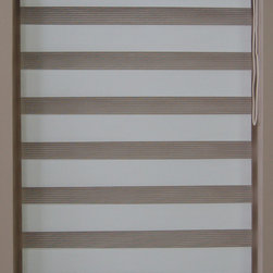 "CustomWindowDecor - For PatioDoor, Basic Dual Shades, White, 24"" W X 72"" L - Dual shade is new style of window treatment that is combined good aspect of blinds and roller shades"