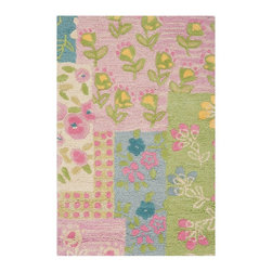 Safavieh - Kids Safavieh Kids 2'x3' Rectangle Pink-Multi Area Rug - The Safavieh Kids area rug Collection offers an affordable assortment of Kids stylings. Safavieh Kids features a blend of natural Pink-Multi color. Hand Tufted of Wool the Safavieh Kids Collection is an intriguing compliment to any decor.