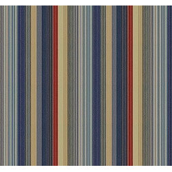 Mountain Lake in Blue - The striped fabric Mountain Lake in Blue