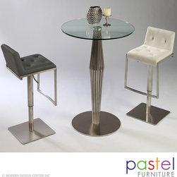 Pastel Furniture Alexandria Table with Adijon Barstool Set - Alexandria Pub Table with Adijon Swivel Barstool Set